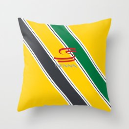 Ayrton Senna Stripes Logo Throw Pillow