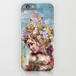 Let me sing, songs of spring iPhone Case