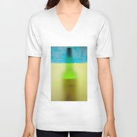rothko V-neck T-shirts featuring rothko black & white by Arding