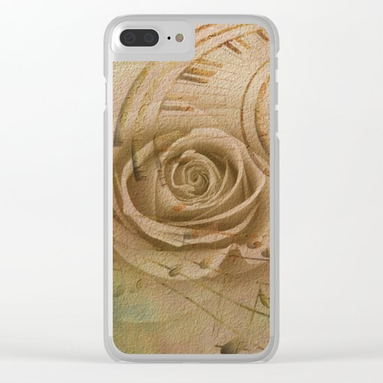 Timeless Love Abstract Clear iPhone Case