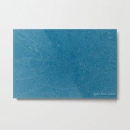 Baile Átha Cliath, Éire, city map, Blueprint design, landscape format Metal Print