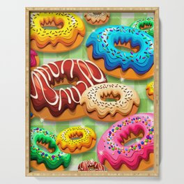 Donuts Party Time Serving Tray
