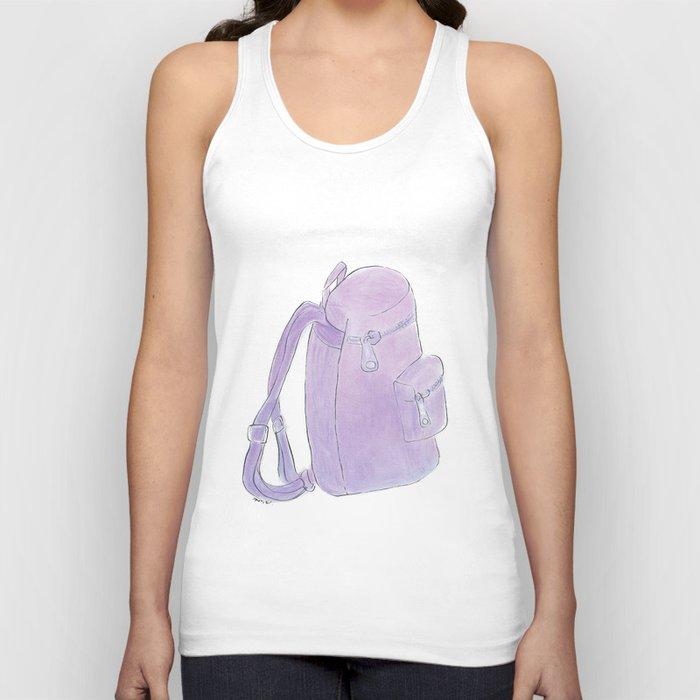Backpack purple Unisex Tank Top