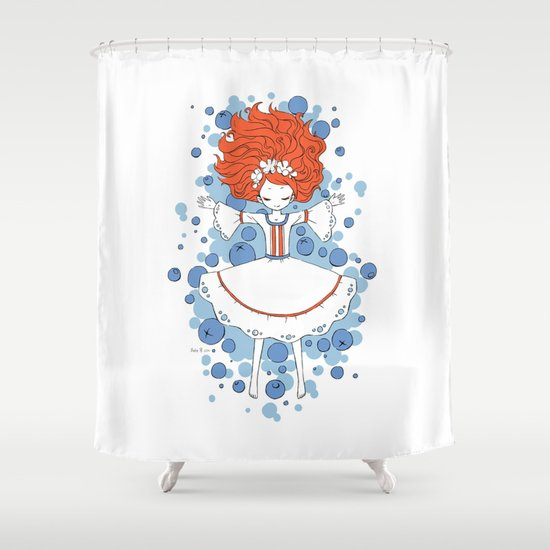 Blueberry Dream Shower Curtain