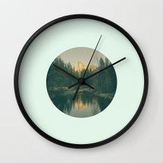 Mint Mountain Vignette Wall Clock