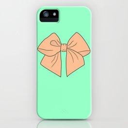 Peachy Keen Vector Bow iPhone Case