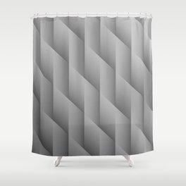 Gradient Gray Diamonds Geometric Shapes Shower Curtain