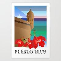 puerto rico Art Prints featuring Puerto Rico, Puerto Rico! by PADMA DESIGNS PR