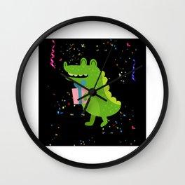 Birthday Alligator Crocodile Gift Motif Wall Clock