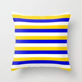 Bosnia Herzegovina Uruguay flag stripes Throw Pillow