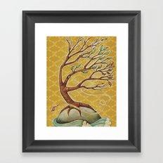 Four Seasons Tree Framed Art Print