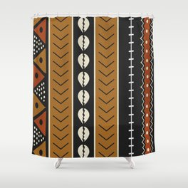 Let's play mudcloth Shower Curtain