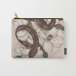 Snake and Magnolias Carry-All Pouch