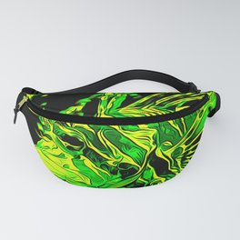 lionfish vector art green Fanny Pack