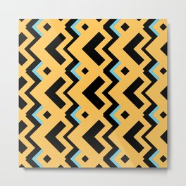 003 Abstract orange, light blue and dark grey for home decoration Metal Print