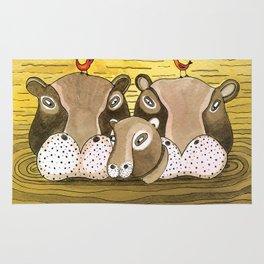Noah's Ark - Hippo Rug