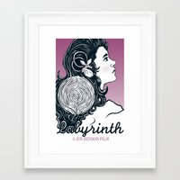 labyrinth Framed Art Prints featuring Labyrinth by Yuri Meister