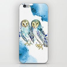Blue Owls iPhone & iPod Skin