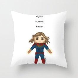 Carol Danvers Design Throw Pillow