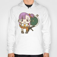 dragonball Hoodies featuring Bulma and the dragonball radar by Samtronika
