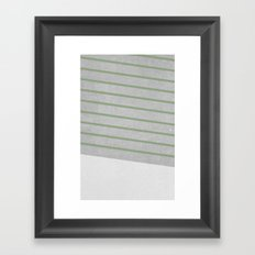 Concrete & Stripes II Framed Art Print