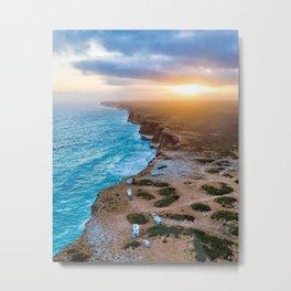 Sunset on the Nullabor, South Australia (portrait style) Metal Print