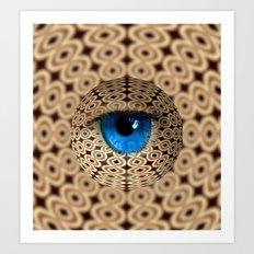 infinite gaze Art Print