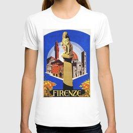 Florence Firenze travel, lion statue T-shirt