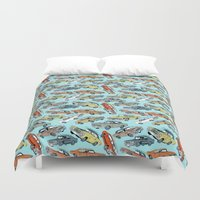 muscle Duvet Covers featuring Muscle Cars by Mario Zucca