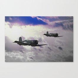 Navy F4 Corsair Canvas Print