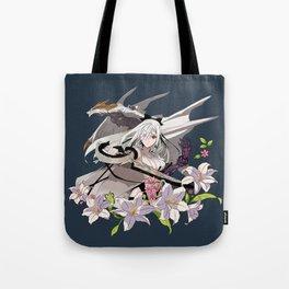 Lady and Dragon Tote Bag