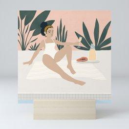 poolside Mini Art Print