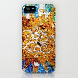 Barcelona, Spain. Parque Guell Mosaic. iPhone Case