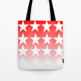 Red and White Stars, Faded Stars, Patriotic Tote Bag