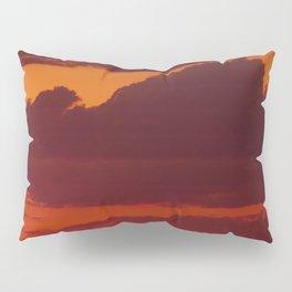 Orange sunset sky (dark) Pillow Sham