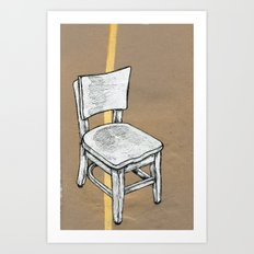 Right Chair Art Print
