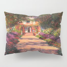 Claude Monet's Pathway in Monet's Garden at Giverny Pillow Sham