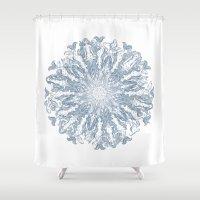 mermaids Shower Curtains featuring Mermaids by Laura Serra