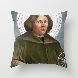 Nicolaus Copernicus Solar System Throw Pillow