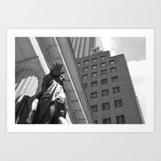 Statue/New York/President/Wall Street Art Print