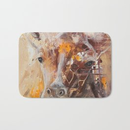 "Giraffe - Animal - ""Presence"" by LiliFlore Bath Mat"