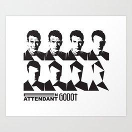Samuel Beckett-En attendant Godot-Waiting for Godot Art Print
