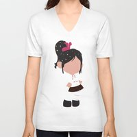 wreck it ralph V-neck T-shirts featuring Vanellope von Schweetz - Wreck it Ralph by Adrian Mentus