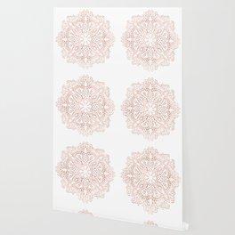 Mandala Rose Gold Pink Shimmer by Nature Magick Wallpaper