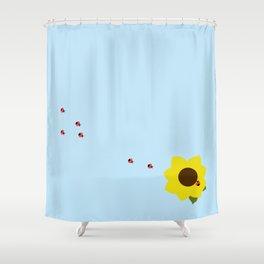 The Ladybug Brigade Shower Curtain