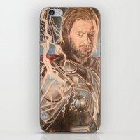 thor iPhone & iPod Skins featuring Thor by Shawwayne