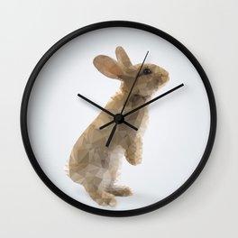 Polygon Rabbit Wall Clock