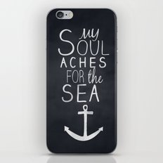 My Soul Aches for the Sea iPhone & iPod Skin