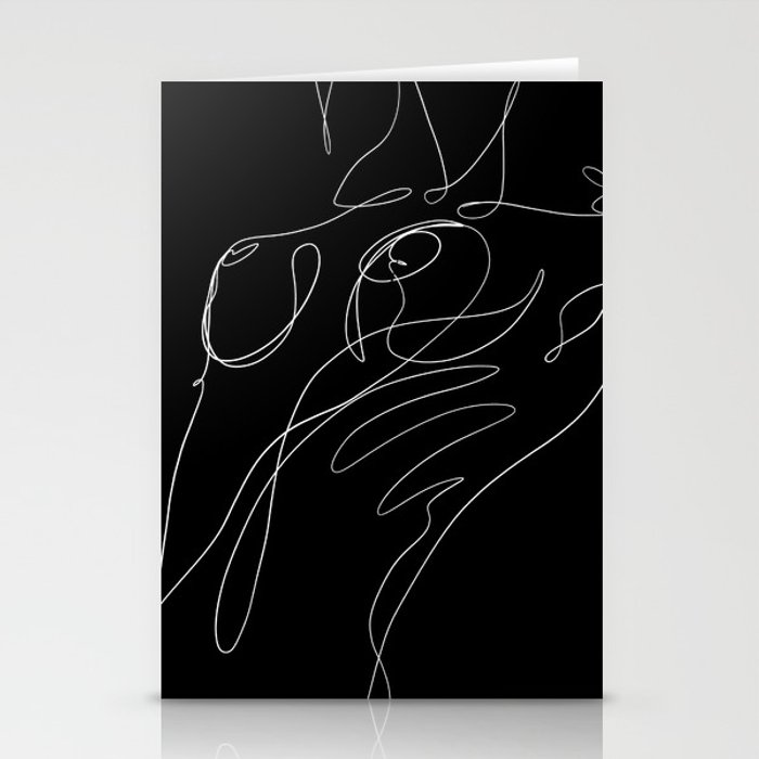 abstract nude 4 Stationery Cards
