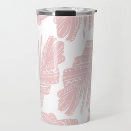 Blush Boho Banana Leaves #1 #tropical #decor #art #society6 Travel Mug